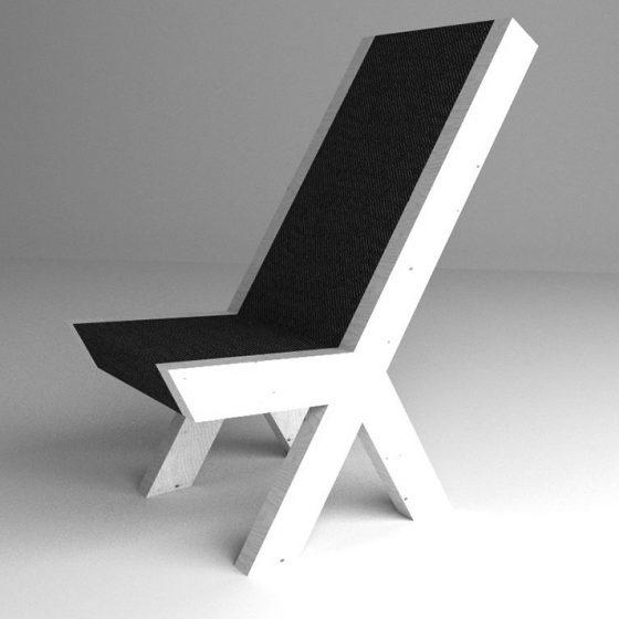 Peace Chair - mala slika crno_belo